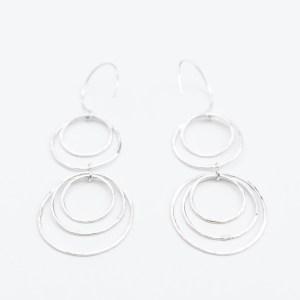 sterling silver nesting dangle earrings