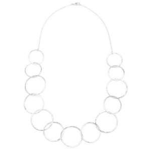 delicate hammered hoop necklace