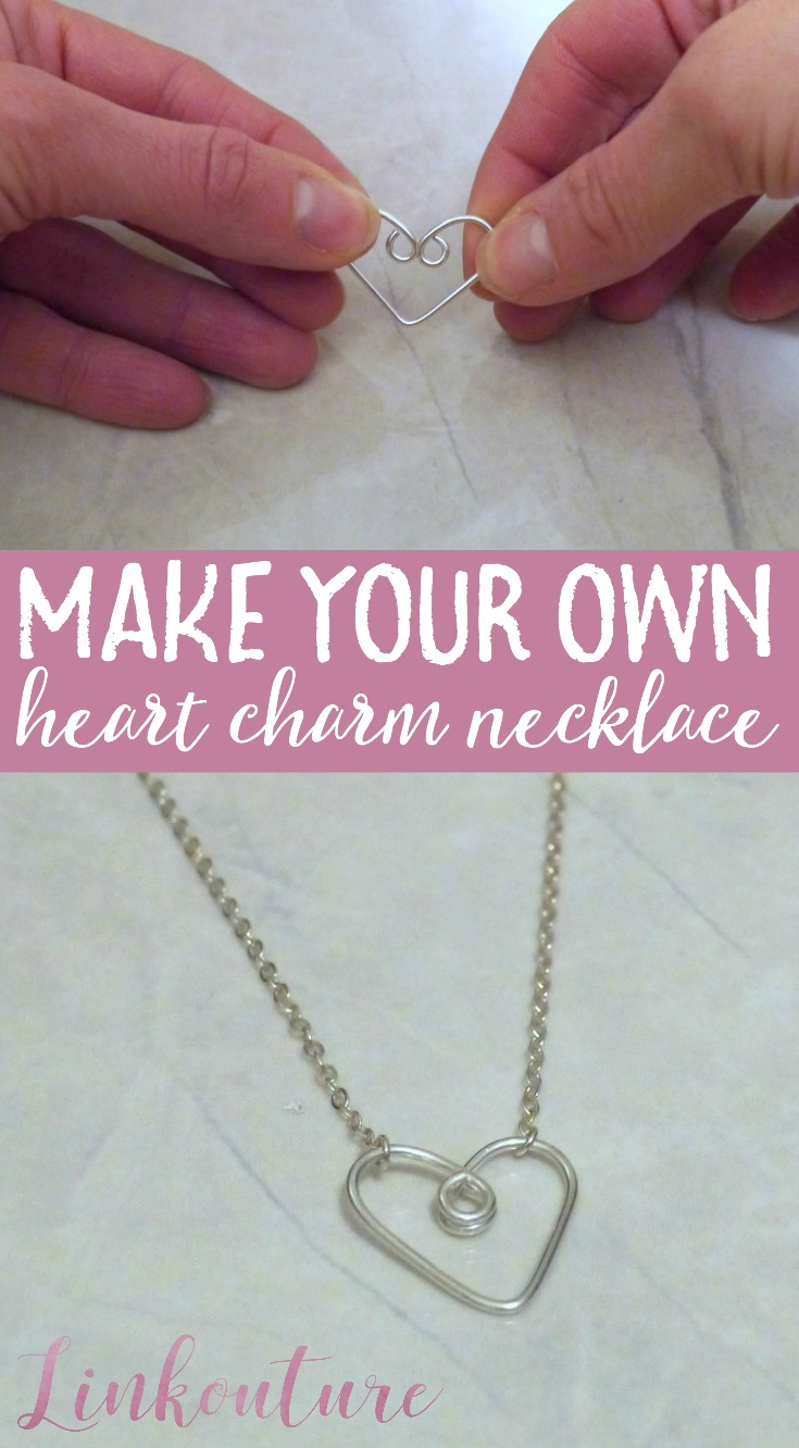 Learn how to make your own gorgeous handcrafted heart charm necklace.