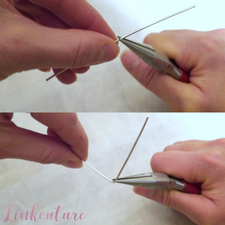 Learn how to make wire jewelry with a heart charm.