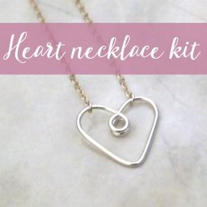 Heart pendant necklace DIY kit