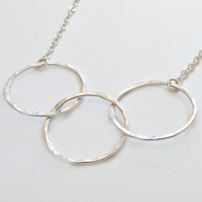Excellent Three interlocking rings necklace - Linkouture FK88