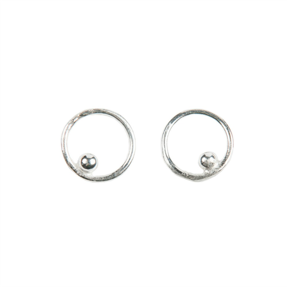 open stud earrings products circle studs gold