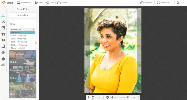 Use a photo editing program like PicMonkey to create pinnable images for Pinterest
