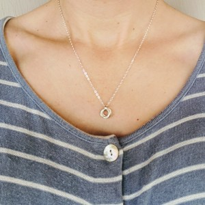 Mobius spiral pendant necklace