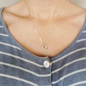 Mobius spiral pendant necklace