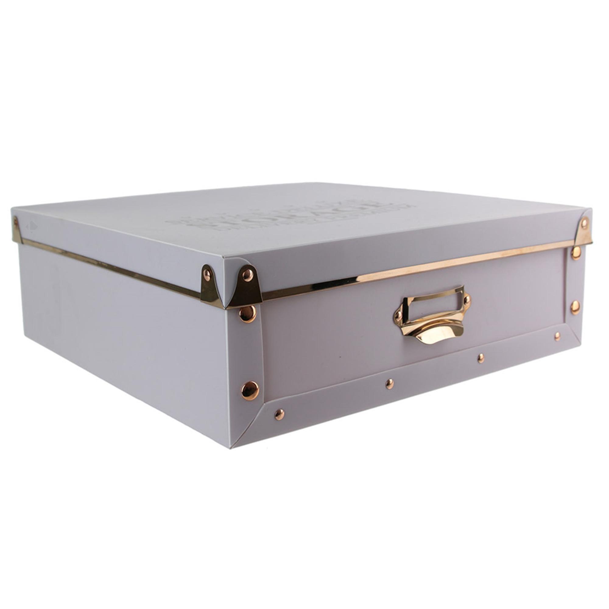 boite de rangement deluxe avec couvercle 9l gris craie
