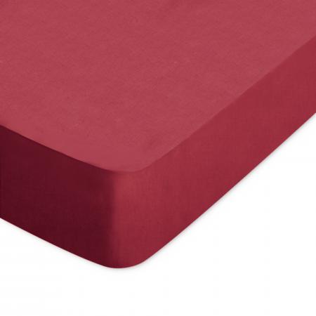 Drap Housse 120x190cm Uni Pur Coton Alto Rouge Garance Linnea Linge De Maison Et