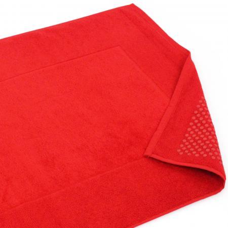 tapis de bain antiderapant 60x90 cm velours prestige rouge