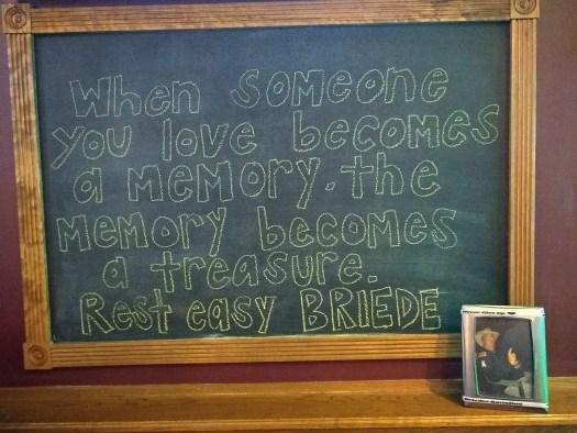 Dan Briede Board at Linnies Pub