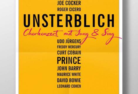 Konzertplakat Jung & Sing