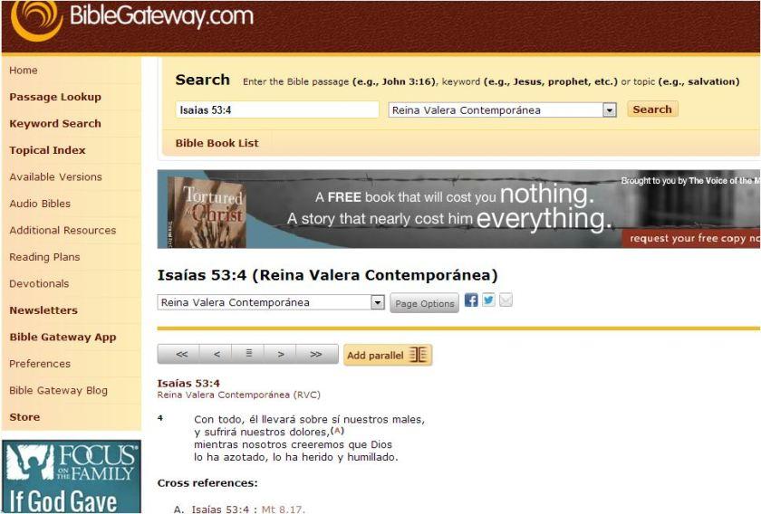 Busqueda en Biblegateway