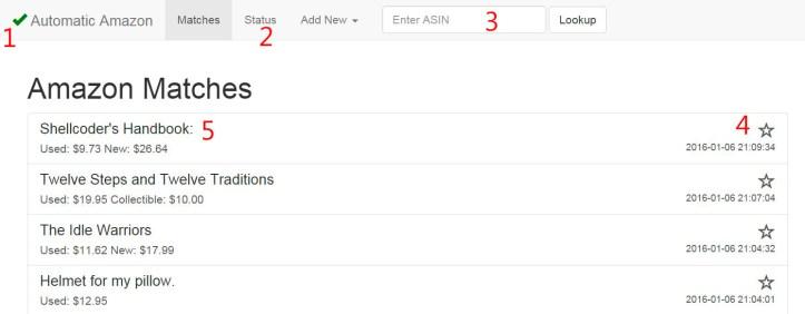 Screenshot of Amazon Lookup Program for Online Arbitrage