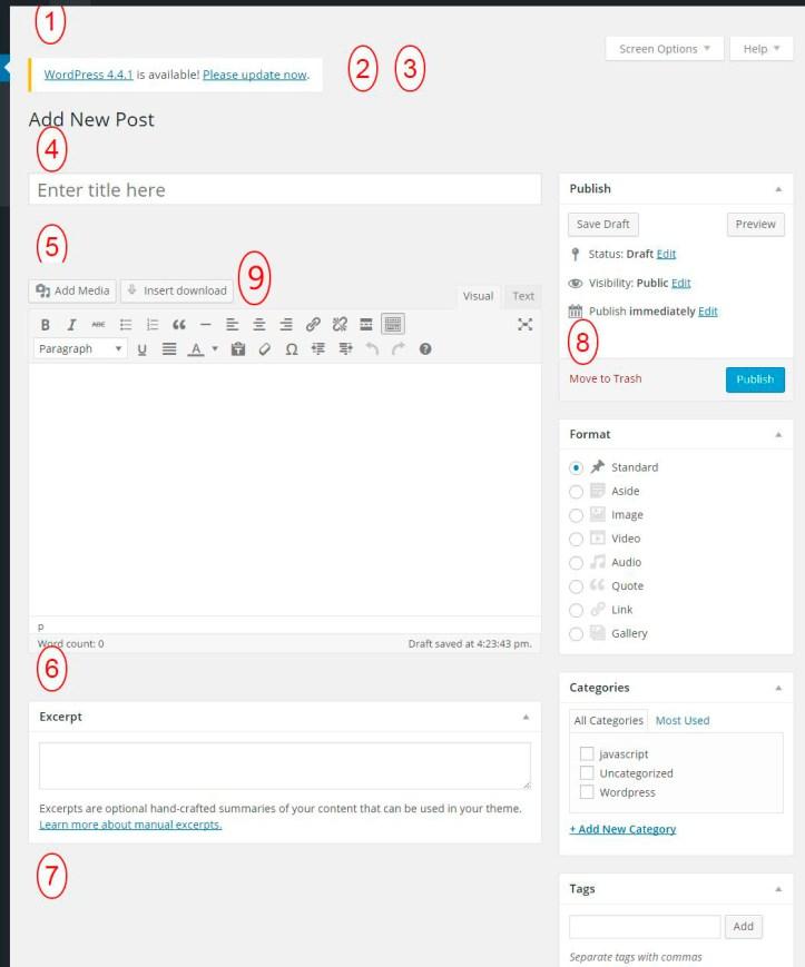 Wordpress Admin Edit Post Screen Hooks