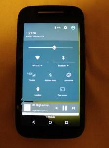 Verizon Moto e using T-mobile 4G Network