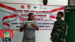 Hindari Kerumunan, Penyaluran BTPKLW Koramil 04/Nguntoronadi Dilaksanakan Selama Tiga Hari