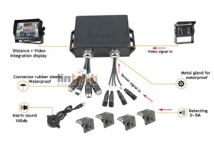 7 inch Visual Reverse Parking Sensor with Camera, TR4B2