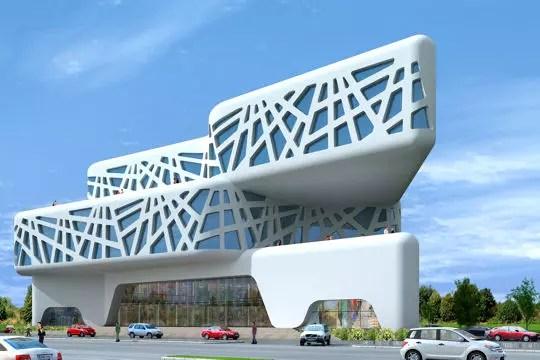 Les projets fous de l architecte sanjay puri nuage ciel for Centre commercial grand tour