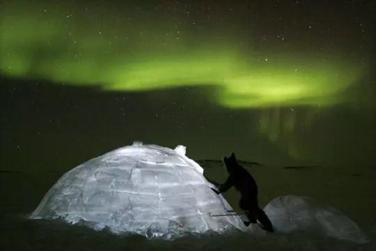 le grand nord sous les aurores boréales
