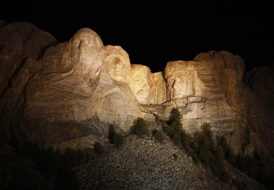 Mount Rushmore, Black Hills, South Dakota at night