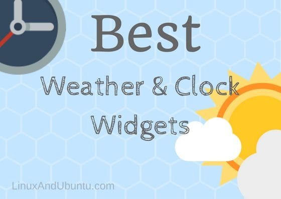 best weather and clock widgets linux