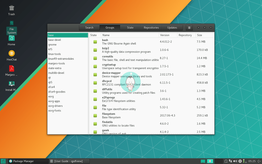 Manjaro Linux packages