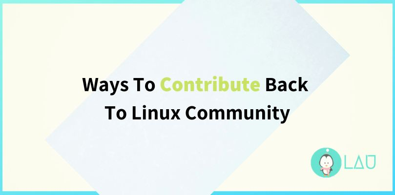 contribute to linux community