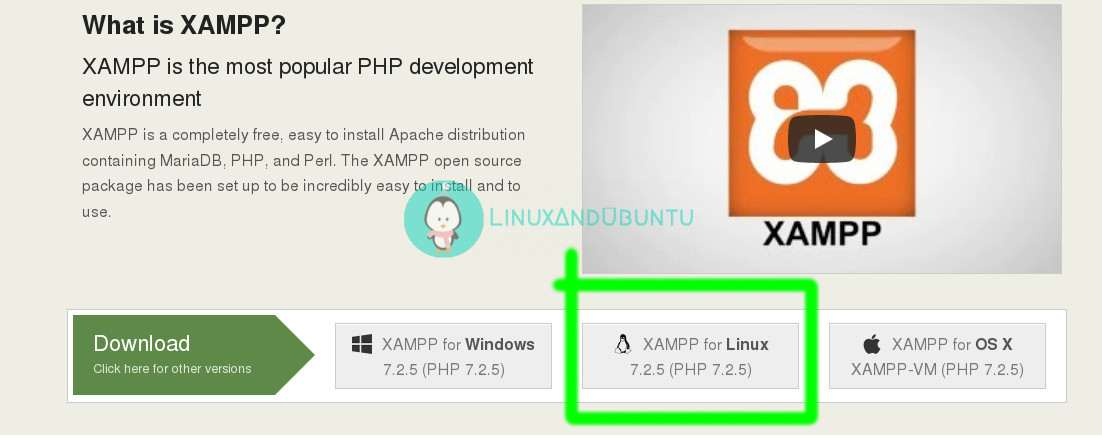 download xampp for linux