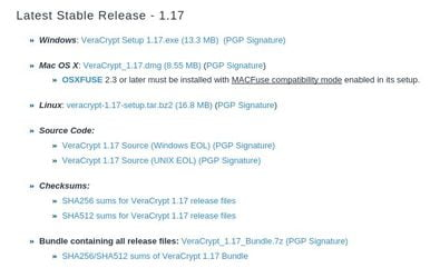Download VeraCrypt for Linux