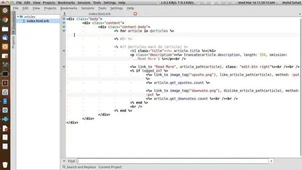 KATE IDE for Linux KDE
