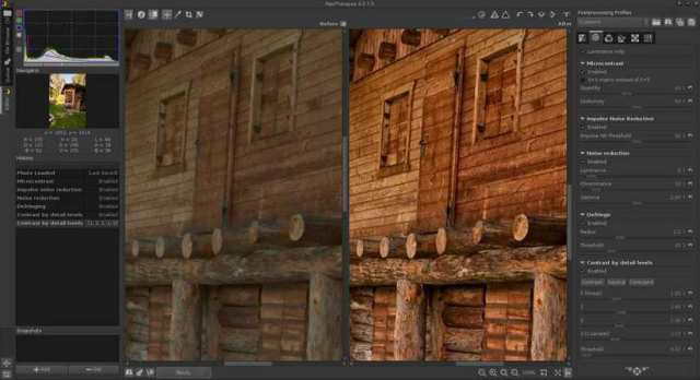 RawTherapee photo editing software for linux
