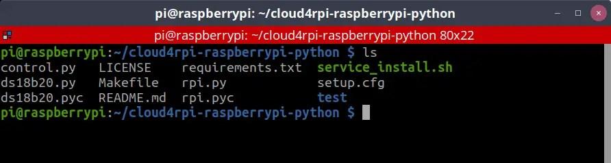 cloud4rpi client folder tree