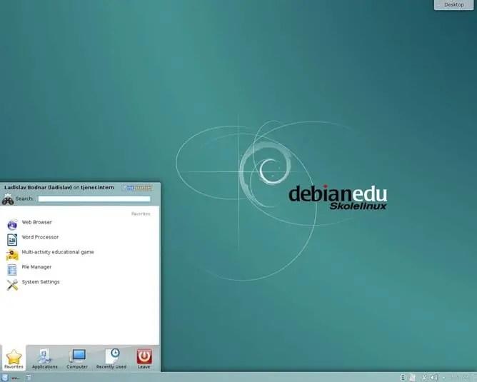 Skolelinux with KDE