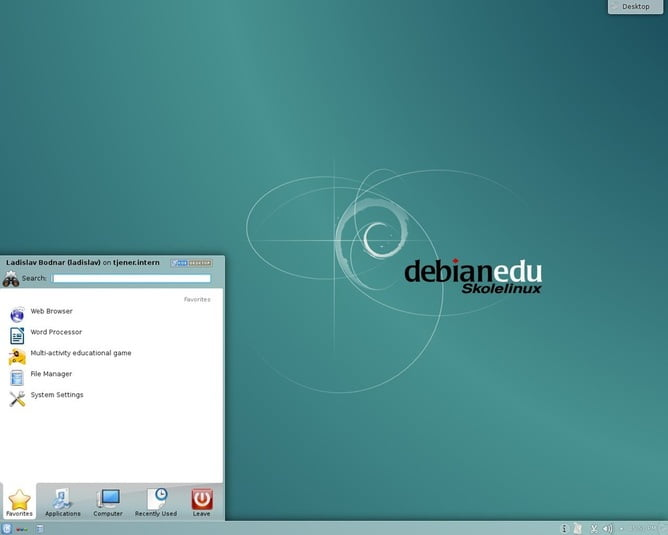 Skolelinux with KDE