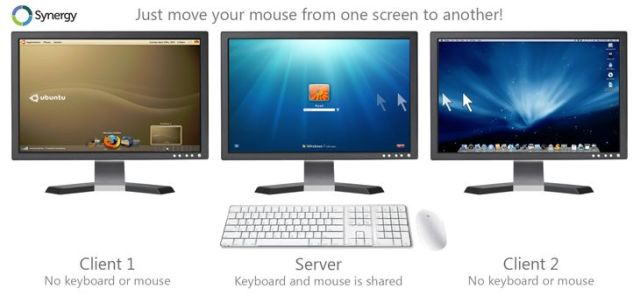 Synergy to share mouse, keyboard and clipboard with computers