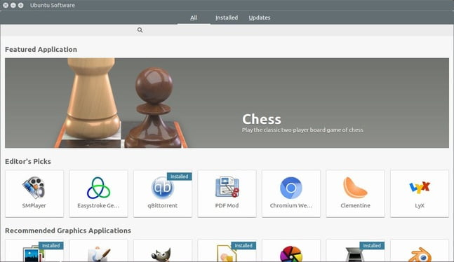 Ubuntu software center replaced with GNOME Software