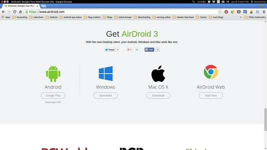 airdroid web transfer file between android phone and computer wifi