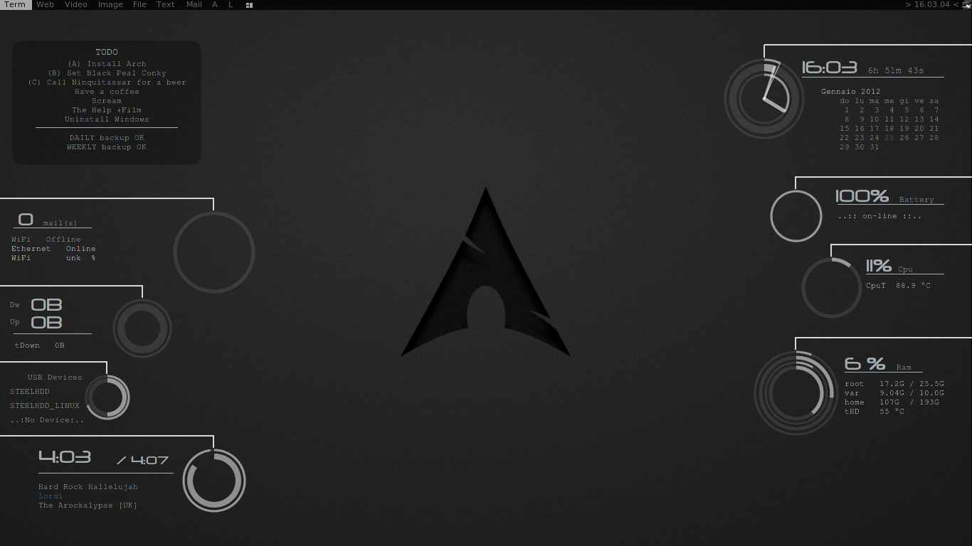 black pearl conky linux