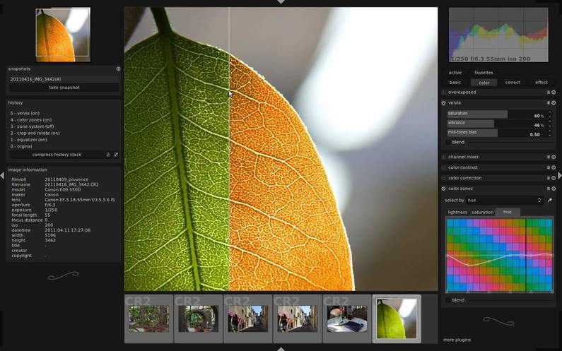darktable image editor for linux