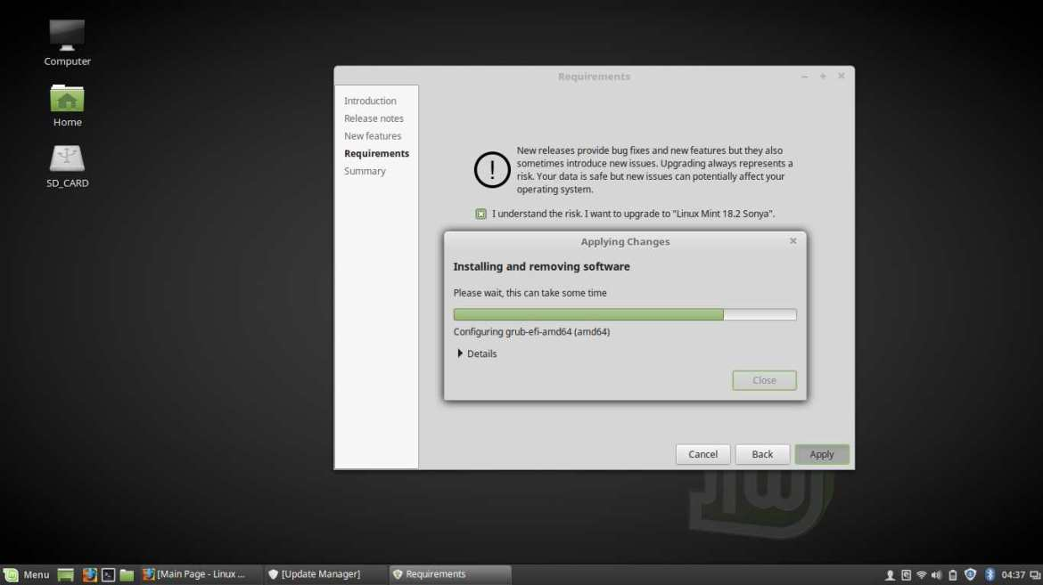 easily upgrade linux mint