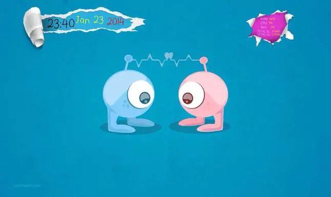eye ball conky theme