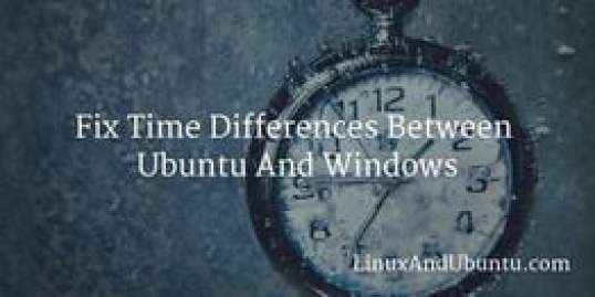 fix time difference between ubuntu and windows