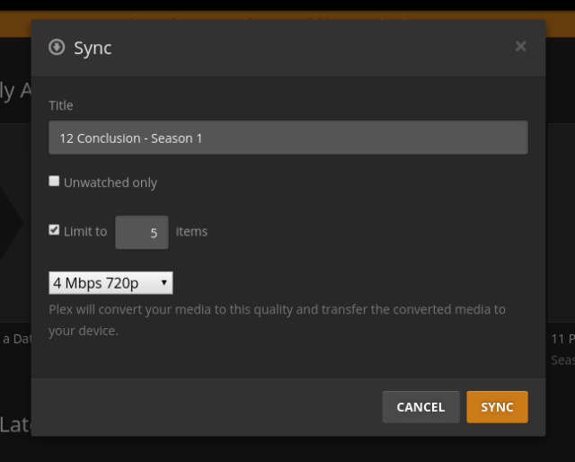 format media before sharing with plex client
