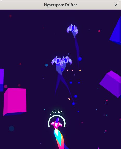hyperspace drifter gameplay in linux