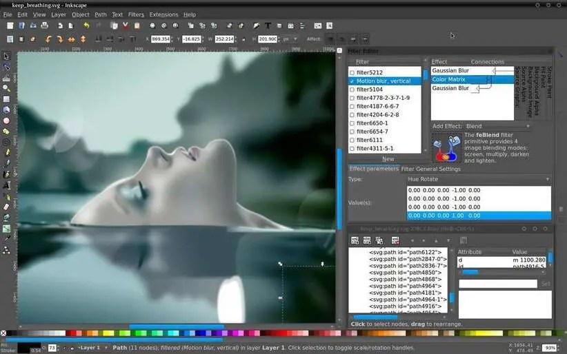 inkscape image editor for linux