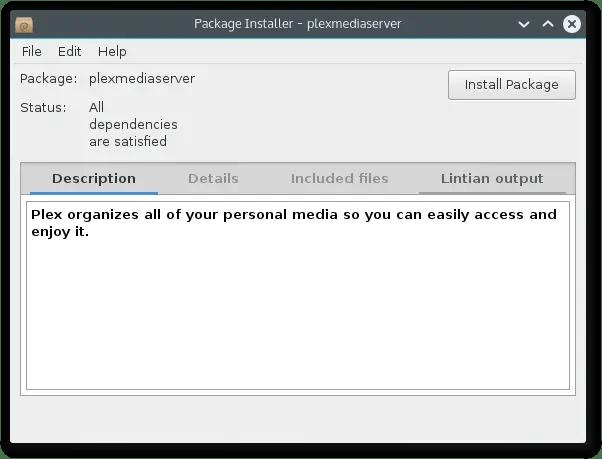 install plex media server using gdebi