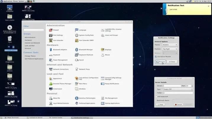 mate linux desktop environments