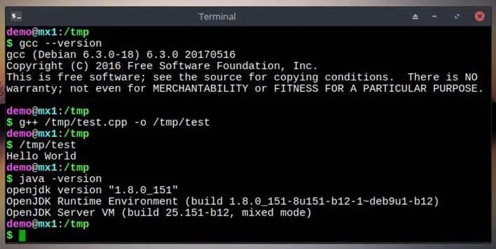 mx linux default installed java