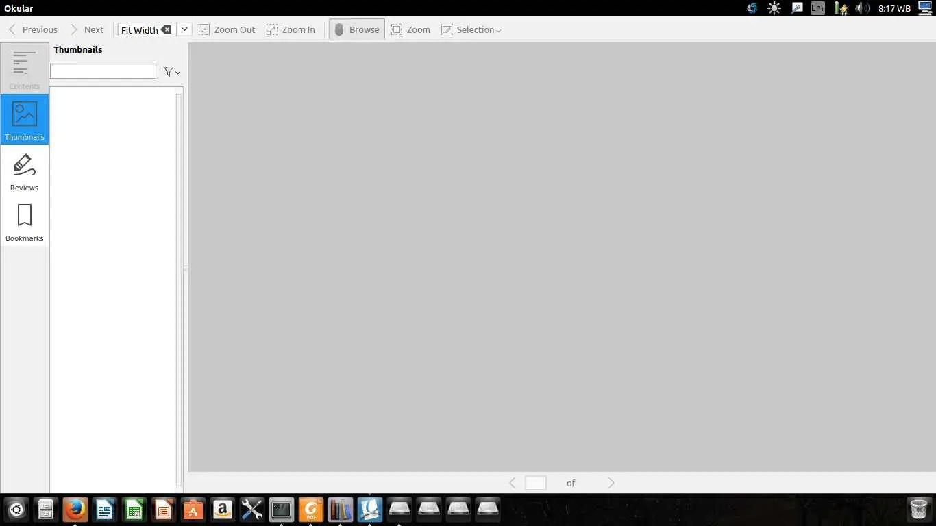 okular pdf viewer or ebook reader