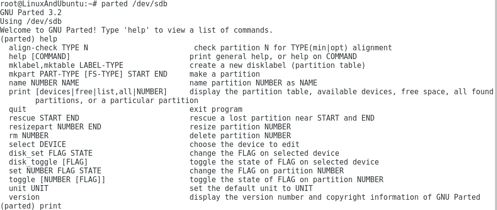 parted partition manager